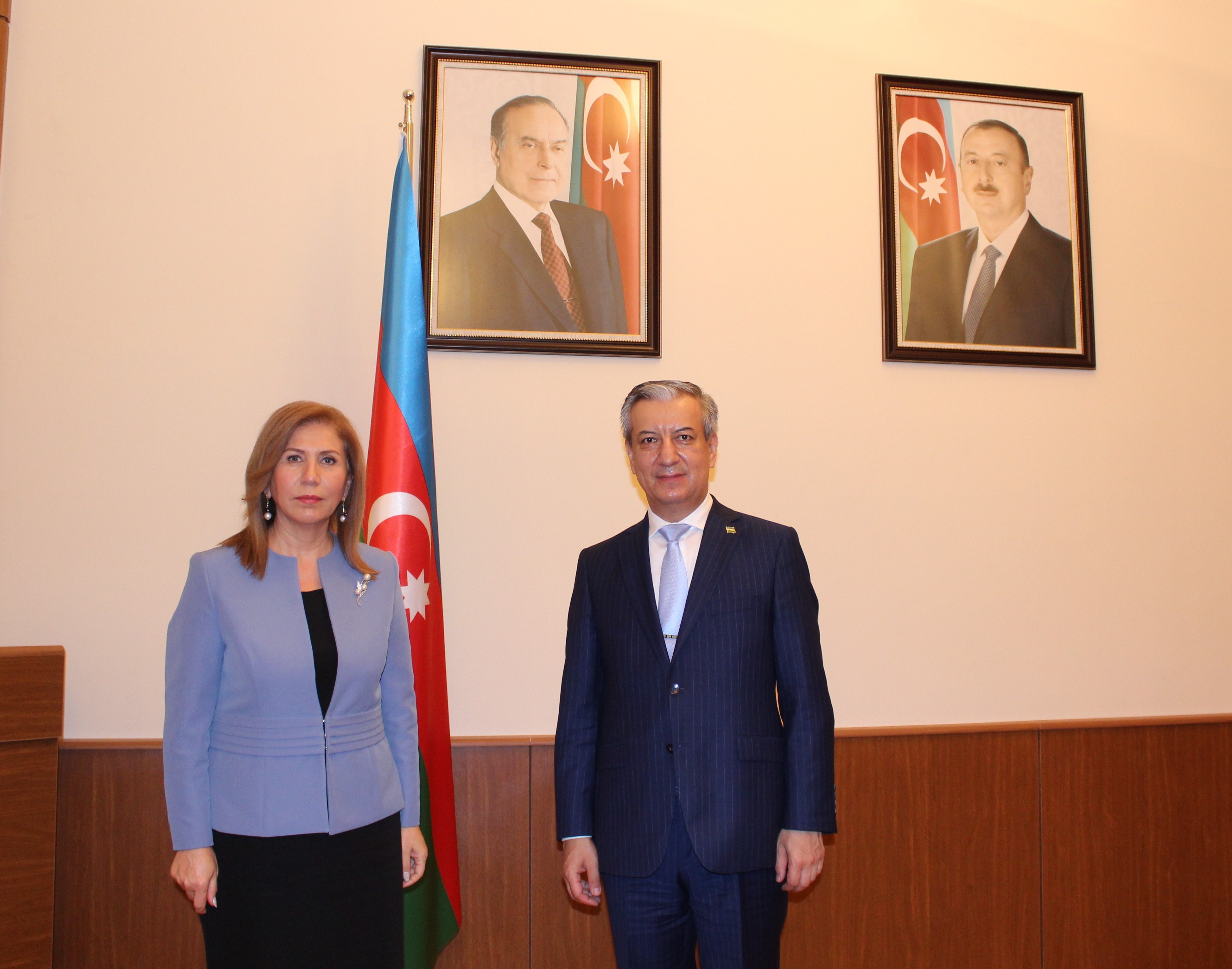A meeting was held with the Ambassador of the Republic of Uzbekistan to Azerbaijan