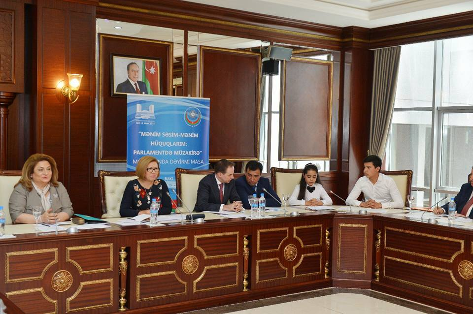 "The round table named ""My voice- my rights"" dedicated to the İnternational Children's Day was held in National Parliament"